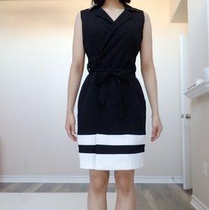 New Calvin Klein waist blazer a line dress